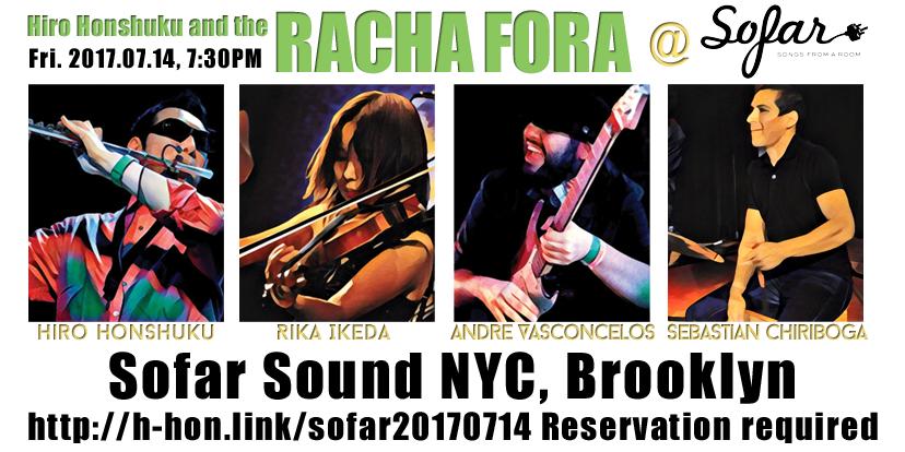 Racha Fora Sofar NYC 2017-07-14