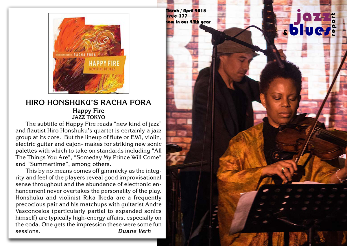 Happy Fire Review on Jazz & Blues Report